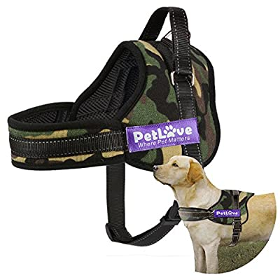 PetLove Dog Harness, Soft Leash Padded No Pull Dog Harness with All Kinds of Size by J&D Tech