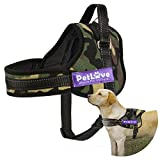 Dog Harness, PetLove Soft Leash Padded No Pull Dog Harness with All Kinds of Size (Large, Camouflage)
