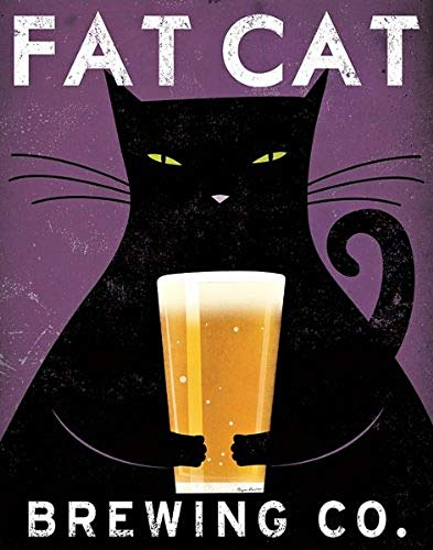 Cat Brewing no City Ryan Fowler Advertisements Vintage Beer Ads Print Poster 11x14 (Best Coffee Print Ads)