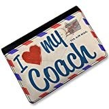 RFID Passport Holder I Love my Coach, Vintage Letter, Cover Case / Wallet - Neo