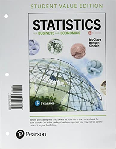 Statistics For Business And Economics Student Value Edition