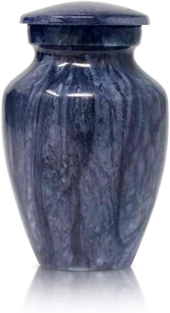 Marbleized Blue Set of 4 SmartChoice Keepsake Cremation Urns for Human Ashes Handcrafted Funeral Memorial Mini Urns