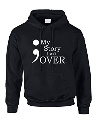 Allntrends Adult Hoodie My Story Isn t Over Semicolon Hooded Top at ... ad064711b8