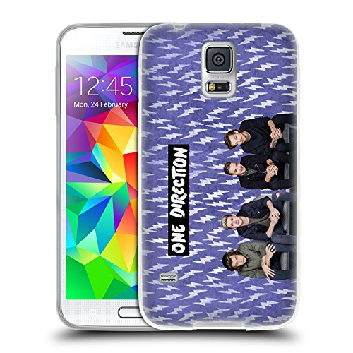 Official One Direction Purple Group Icon Soft Gel Case for Samsung Galaxy S5 / S5 Neo (One Direction S5 Cover compare prices)