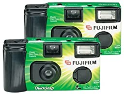 Fujifilm Quicksnap Flash 400 Single-Use Camera With Flash (Pack of 4) (OLD MODEL)