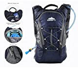 Hydration Backpack with 2 Liter Water Bladder Fits Men...
