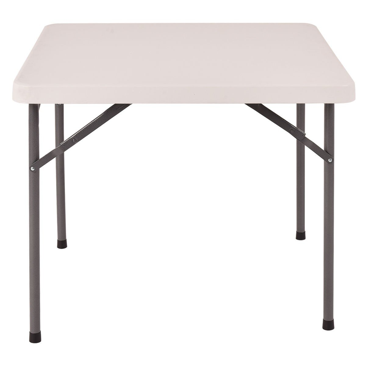 MRT SUPPLY 34'' Square Multipurpose Folding Banquet Picnic Table with Ebook