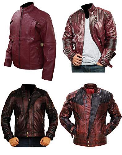 Mens Star Galaxy Lord Chris Pratt Guardians Vol 2 Biker Leather Jacket