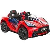 Spiderman 6-volt Super Electric Ride-On Car, Red/Black/Blue