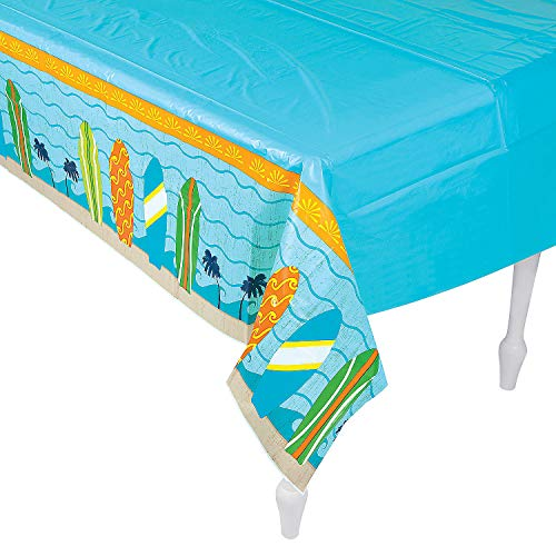 Fun Express Surfs Up Tablecover for Birthday - Party Supplies