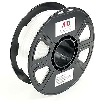 AIO Robotics AIOWHITESILK PLA 3D Printer Filament, 0.5 kg Spool, Dimensional Accuracy +/- 0.02 mm, 1.75 mm, Silk White