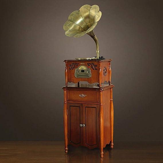 BeiMi Gramófono clásico fonógrafo Retro Disco de Vinilo/Tocadiscos ...