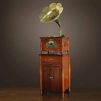 BeiMi Gramófono clásico fonógrafo Retro Disco de Vinilo ...