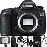 Canon EOS 5DS R DSLR Camera (Body Only) 64GB Bundle 11PC Accessory Kit Which Includes 64GB Memory Card + MORE