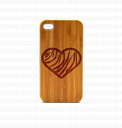 Krezy Case Real Wood iPhone 6 Case, Love iPhone 6 Case, zebra heart iPhone 6 Case, Wood iPhone Case,