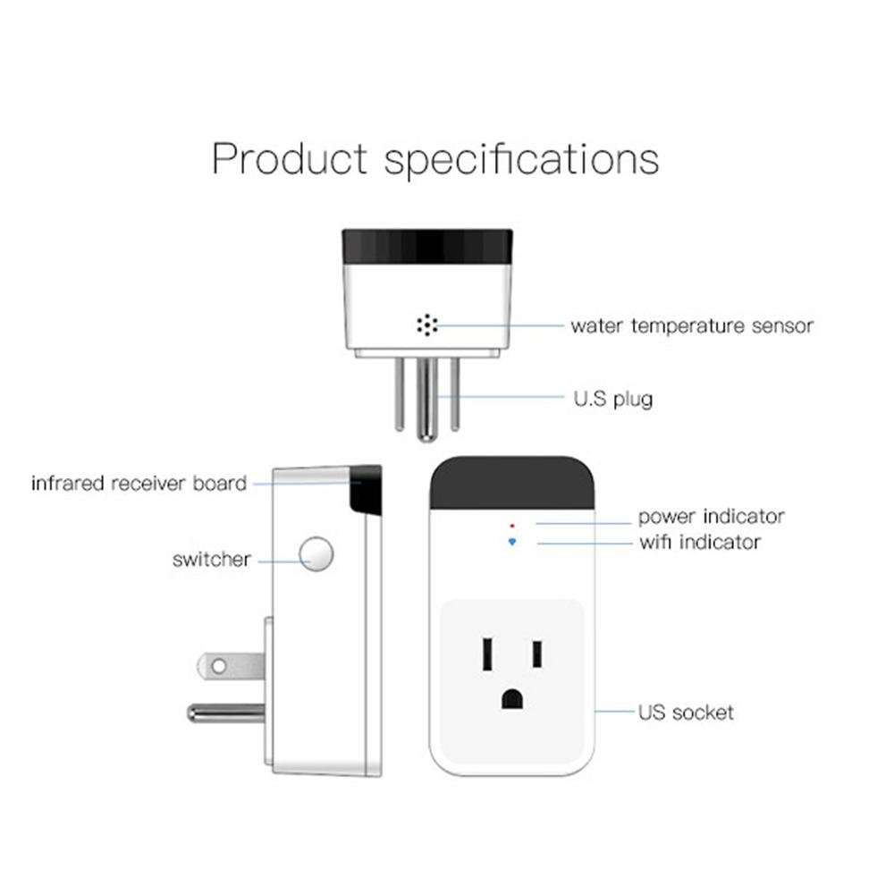 Teepao WiFi Smart Mini Plug IR Control Air Conditioner Works with Alexa and Google Home, Wireless Remote Control Electrical Outlet Switch with Energy Monitoring, Support Voice and Phone App Controlled by Teepao (Image #7)