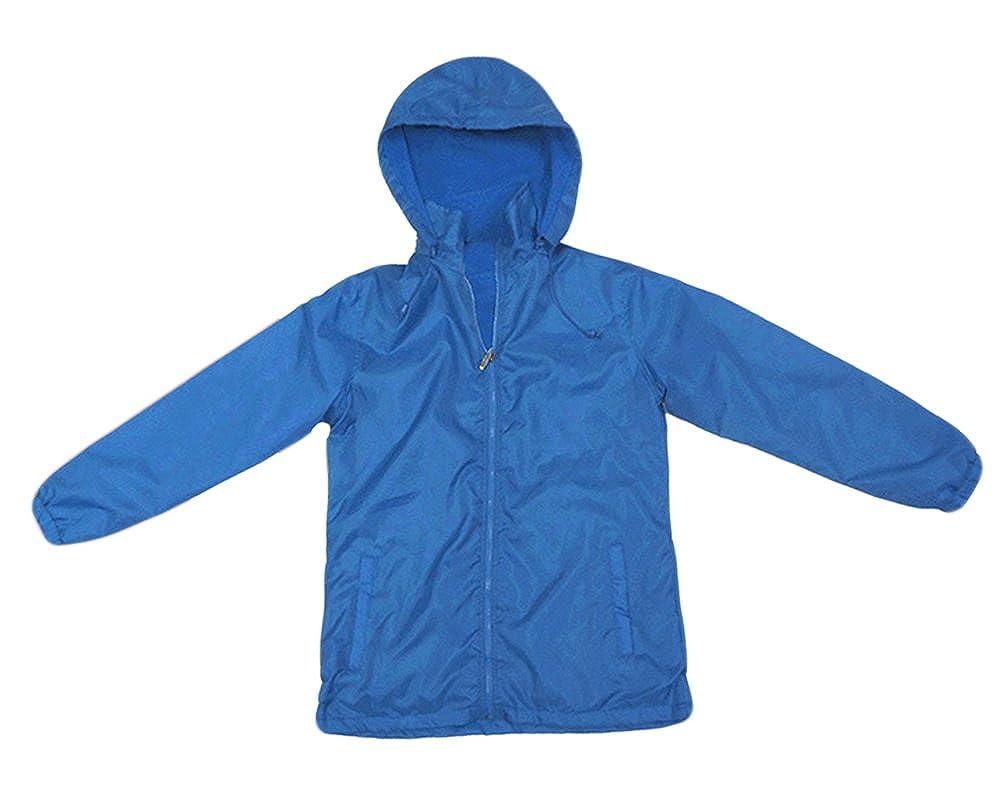 Apparel No. 5 Women's Full Zip Nylon Shell Fleece Lined Hooded Windbreaker