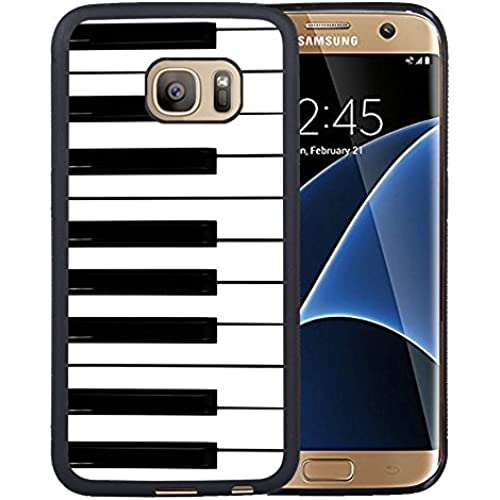Galaxy S7 Edge Case,piano keyboard Samsung Galaxy S7 Edge Case Cover - TPU Black Sales