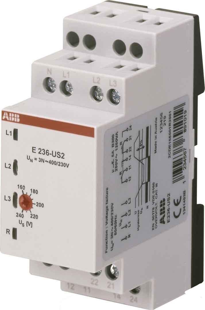 ABB Stotz S/&J Unterspannungsrelais E236-US2 2W 1,7W System pro M compact Unterspannung-/Überwachungsrelais f/ür Reiheneinbau 4016779511094