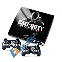HOT Call of Duty Black Ops 2 Vinyl Decal Skin Stickers For PS3 Slim Console Covers for PlayStation 3 Controller