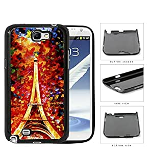 Eiffel Tower Oil Painting Hard Plastic Snap On Cell Phone Case Samsung Galaxy Note 2 II N7100
