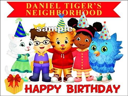Swell Amazon Com Daniel Tiger Neighborhood Image Happy Birthday Edible Funny Birthday Cards Online Elaedamsfinfo