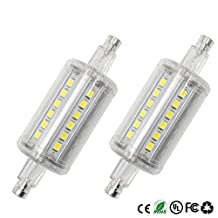 Dayker LED Light Bulb R7S 78mm, 5W Dimmable Daylight J Type Floodlight, Double Ended T3 J78, 45W Halogen Replacement for Home Lighting (2 Packs)