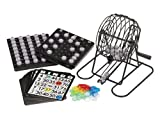 Trademark Innovations 18 Card Bingo Set With 75 Numbered Balls, a Metal Cage to Spin, Bingo Chips and Ball Rack