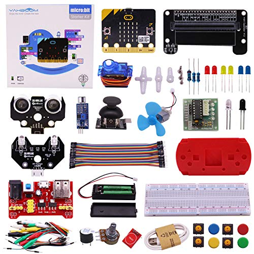 (Yahboom Micro:bit Kit Starter Learning Kit with BBC Micro bit Board Graphical Programmable STEM Toys for Kids with Guidance Manual)