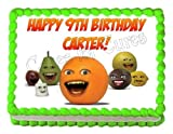 ANNOYING ORANGE edible party cake decoration topper cake - Best Reviews Guide