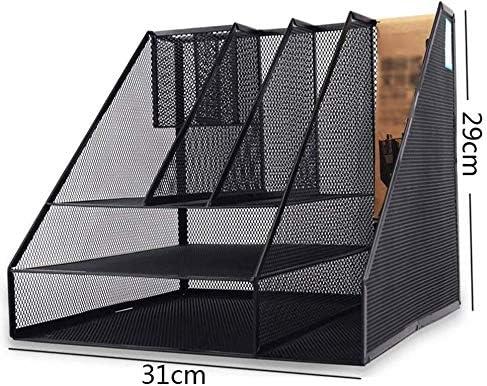 Cajas de joyería DJSSH la Caja de almacenaje Plegable de la Carpeta de múltiples Funciones Estantería de Oficina Carpeta metálica Antideslizante diseño Escritorio Estante for Libros DJSSH: Amazon.es: Hogar