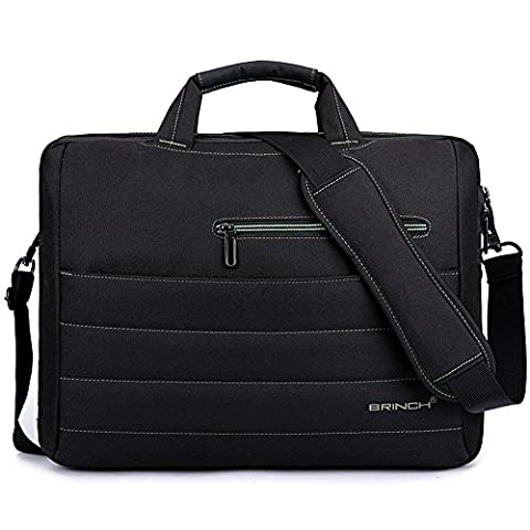 BRINCH New Style 17.3 Inch Nylon Shockproof Laptop Case Messenger Bag For 17 - 17.3 Inch Laptop / Notebook / MacBook / Ultrabook with Shoulder Strap Handles and Various Pockets (Black - - Hp Belt Case
