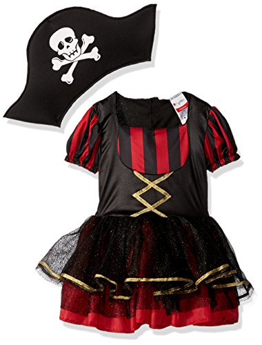 Disguise Precocious Pirate Costume, Small/2T (Pirate Costume For Toddler Girl)
