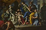 Beautiful Oil Paints on Canvas Without Stretch and Without Frame ,Francesco Solimena Dido receiving Aeneas and Cupid disguised as Ascanius , is the best gift for your relatives, or girl friend and boy friend. That is also for Bar, Basement, B...