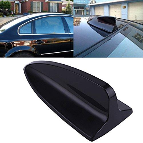 HDE Universal Decorative Shark Fin Car Antenna - Black (Fin Decorative Shark Car)