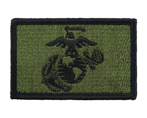 Corps Green (USMC EGA Patch Fully Embroidered United States Marine Corps Tactical Velcro Morale Tags (Green and Black))