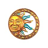 WANDERBAL HOME Outdoor Beautiful Hand Crafted Metal Sun Wall Decor 19.8-Inch