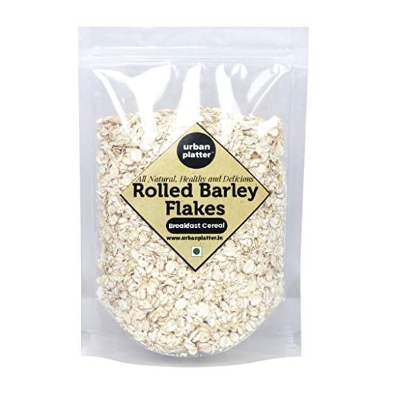 Urban Platter Rolled Barley Flakes, 1Kg [High-Fiber Breakfast Cereal]