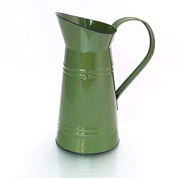 Gießkanne Gießkanne in Shabby-Chic Vintage Look Wasserkanne antikgrün