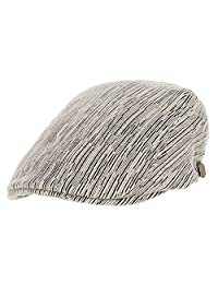 WITHMOONS Flat Cap Modern Soft Knit Stripe Pattern Ivy Hat LD3407