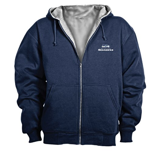 Dunbrooke NFL Craftsman Full Zip Thermal Hoodie, Seattle Seahawks - Large