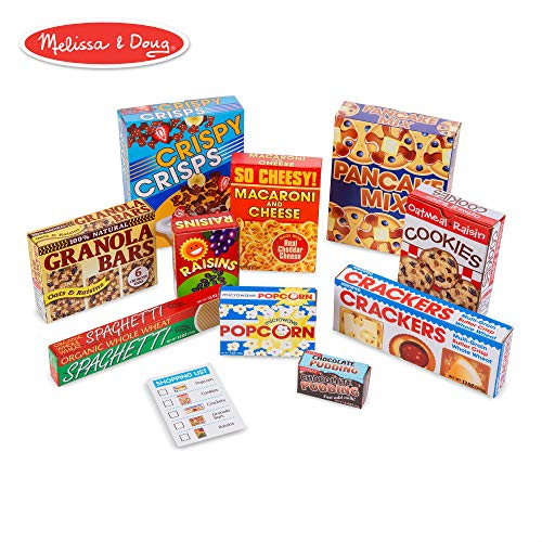 Melissa & Doug Let's Play House! Grocery Shelf Boxes (Pretend Play, Pre-Assembled, Sturdy Cardboard, 11 Pieces) ()