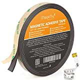 Magcifly Magnetic Adhesive Tape, 0.5 Inch X 15 Feet Magnetic Strip with Strong