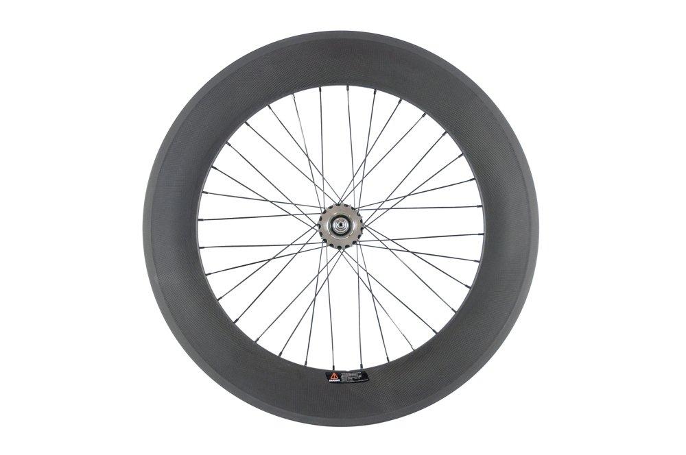 Sunrise Bike Carbon Track 88mm Matte Finish Clincher Rear Wheel for Fixed Gear Bike