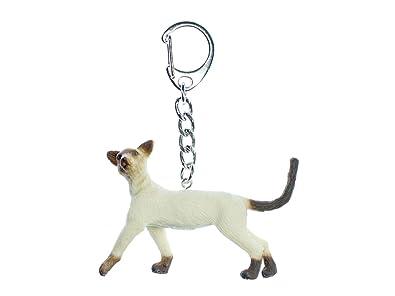 miniblings Siamés llaveros Llaveros Gato Anillo de Mascota: Amazon.es: Joyería