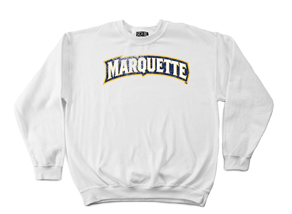 the best attitude 932c3 2aa21 Amazon.com   NCAA Marquette Golden Eagles 50 50 Blended 8-Ounce Vintage  Arch Crewneck Sweatshirt   Clothing