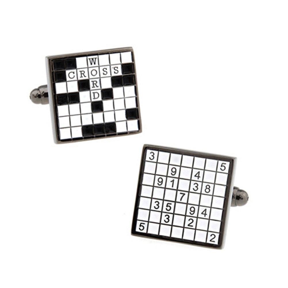 CIFIDET Gemelos para Hombre, diseño de Cruz de Tetris, Color Negro ...