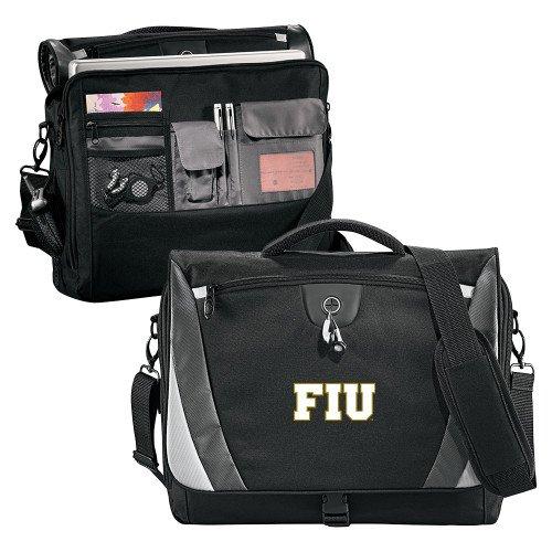 Florida International Slope Black/Grey Compu Messenger Bag 'FIU' by CollegeFanGear