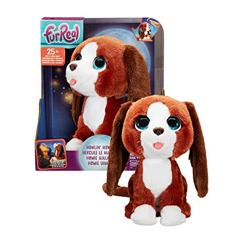 FurReal Howlin' Howie Interactive Plush Pet Toy, 25+ Sound-&-Motion Combinations, Ages 4 & Up (Fureal Friends Puppy)