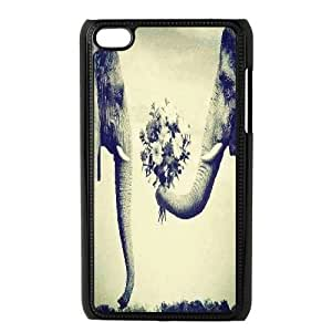 elephant Cheap Custom Cell Phone Case Cover for iPod Touch 4, elephant iPod Touch 4 Case